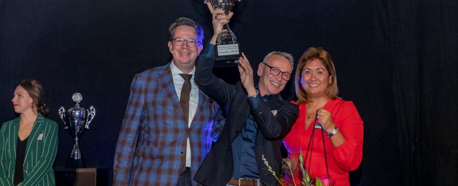 Winnaar Innovatieprijs MKB Westland Partners Ondernemersprijs 2019